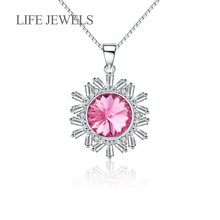 Authentic 100% 925 Sterling Silver Crystal Snowflake Pendants Charm l Women Luxury Valentines Day Gift Jewelry