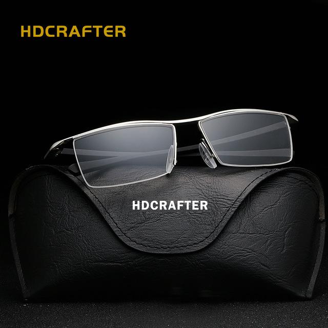 2017 venta de la promoción adulta cr-39 hombres hdcrafter miopía gafas de montura de gafas y el plano de plástico marca aliexpress explosión e004