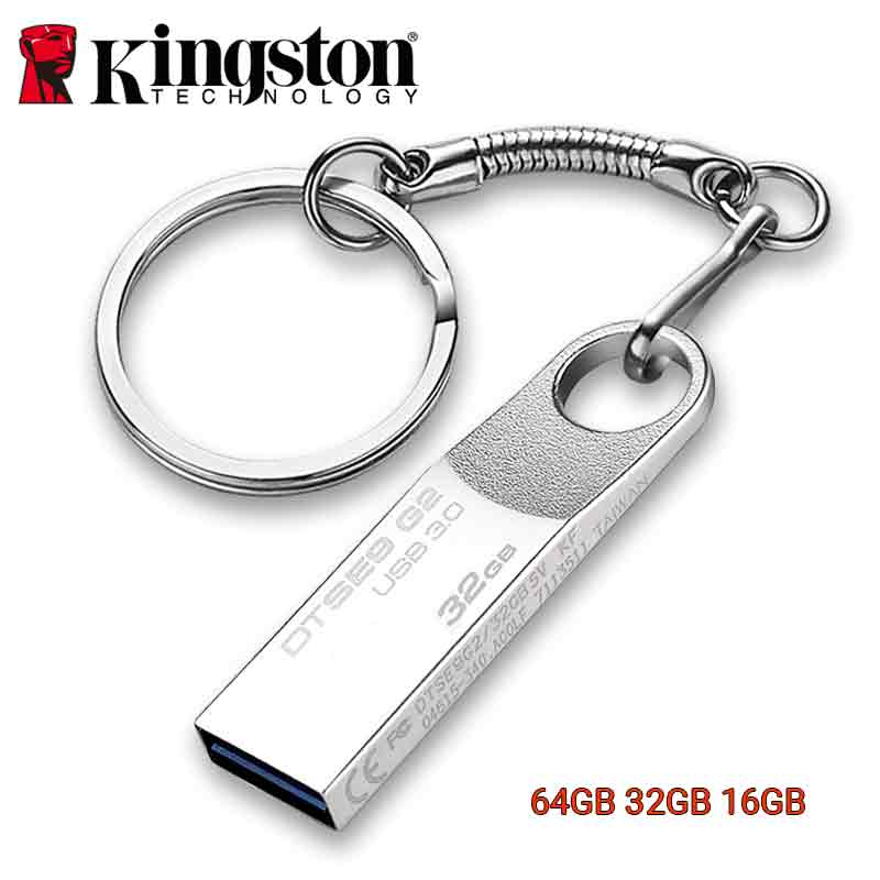 Kingston Usb Flash Drive 64GB 16gb 32gb Pendrive Metal Memoria Stick Cle USB 3.0 Pen Drive Key DIY Custom DJ Thumb Type C Otg