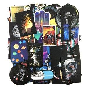 50 قطعة الخارجي الفضاء ملصقا UFO الغريبة رائد الفضاء الصواريخ الكرتون ملصقات الهدايا لعب للأطفال DIY سكيت محمول سيارة الهاتف