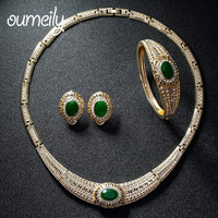 OUMEILY High Quality Nigeria Jewelry Sets For Women African Bead Gold Plated Dubai Jewellery Wedding Christmas