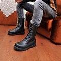 Лучшие Продажи Зимние Сапоги Мужчины Тепловой Круглый Носок Лодыжки Сапоги Мужские Мотоцикла Ходить Повседневная Обувь Botas Masculina