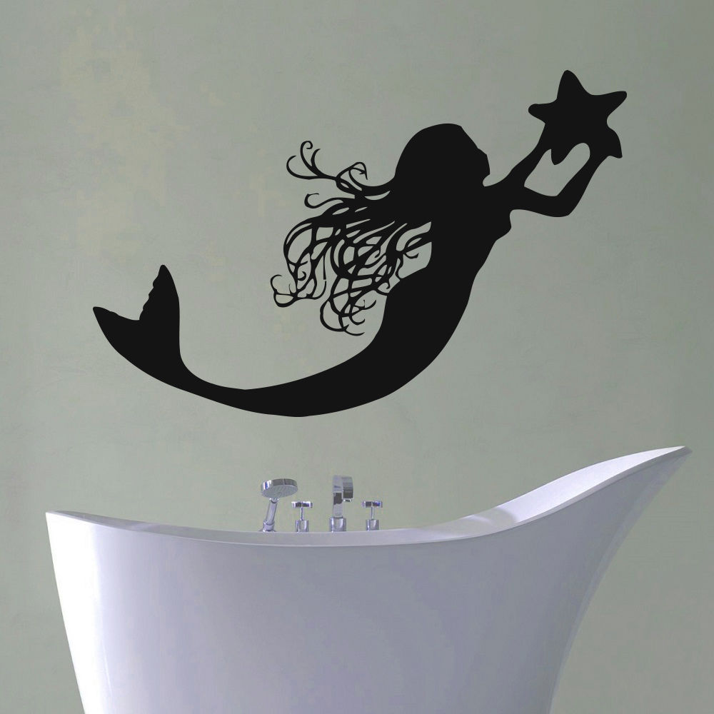 Popular mermaid bathroom decor buy cheap mermaid bathroom for Mermaid bathroom decor vintage