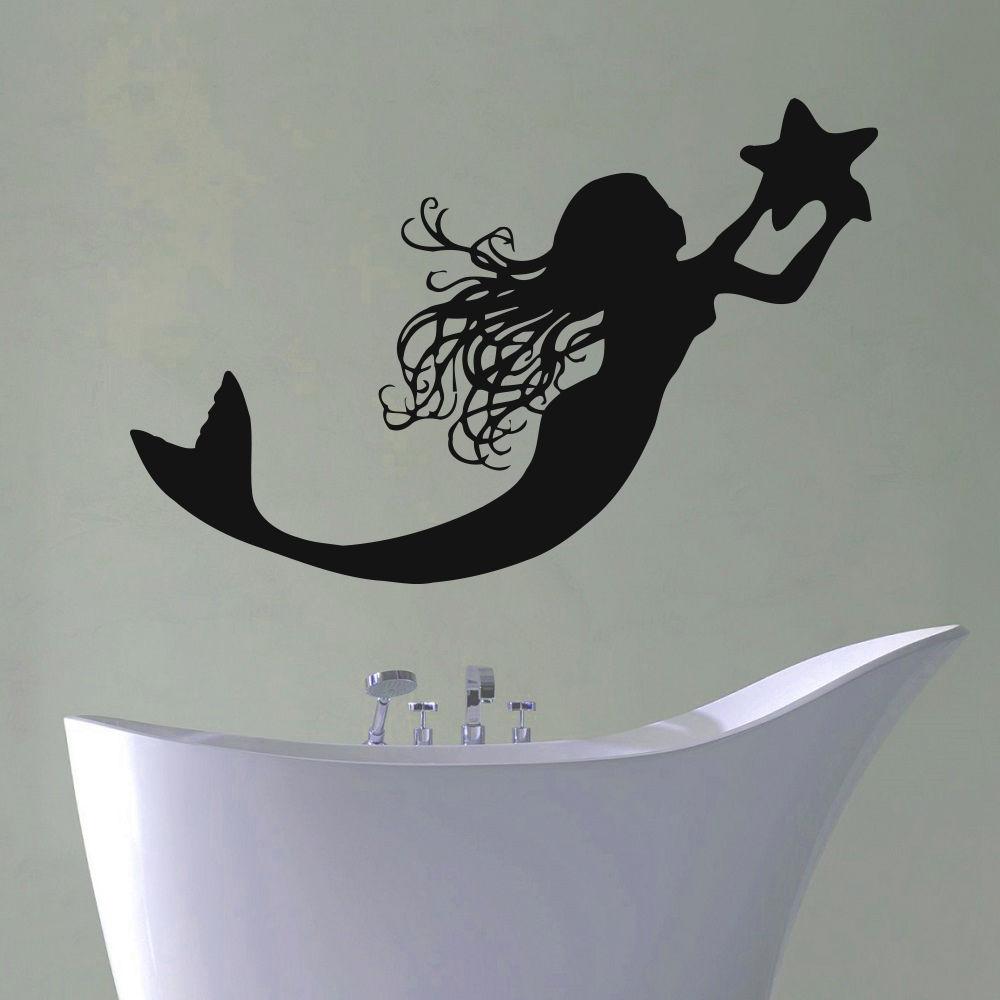 Mermaid Bathroom Vinyl Wall Decals