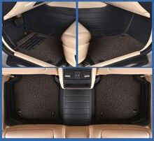 Coche tapetes alfombras pie almohadillas de cuero de doble capa para Chevrolet chaqueta SPARK SAIL EPICA LOVA cruze AVEO Optra 560 610 630 730