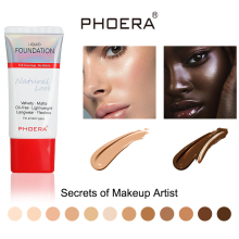 PHOERA Face Liquid Foundation Cream Full Coverage Concealer