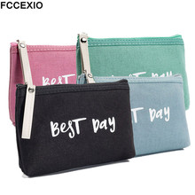 FCCEXIO New Best Play Letter Cosmetic Bag Simple Style Makeup for Girls Travel Organizer Maleta De Maquiagem Wash bag