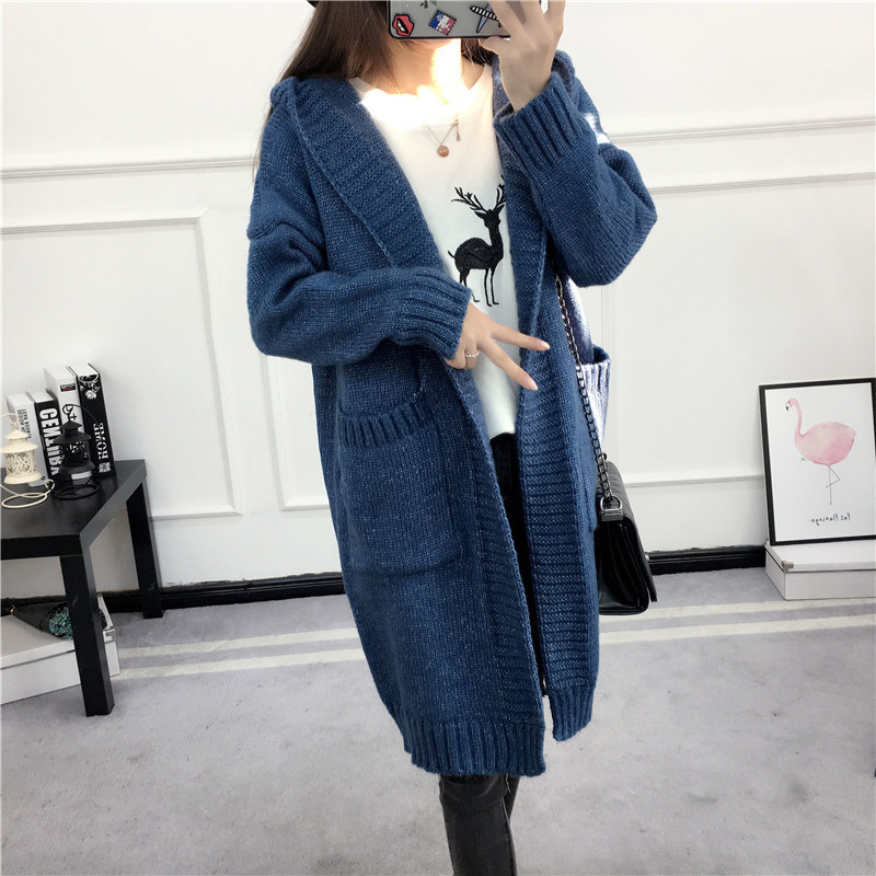 HTB1w5tYSVXXXXaEXpXXq6xXFXXX2 - Women Long Knitted Sweater Coat Hooded Sweater Cardigans JKP039