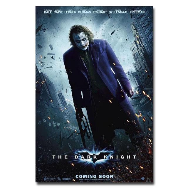 Плакат гобелен шелковый Бэтмен постер с Джокером
