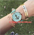DHL free, 100ps/lot, Factory Price Cute Arrows Design Watch Stylish Ladies Leather Anchor Watch Fashion Women Dress Quartz Watch