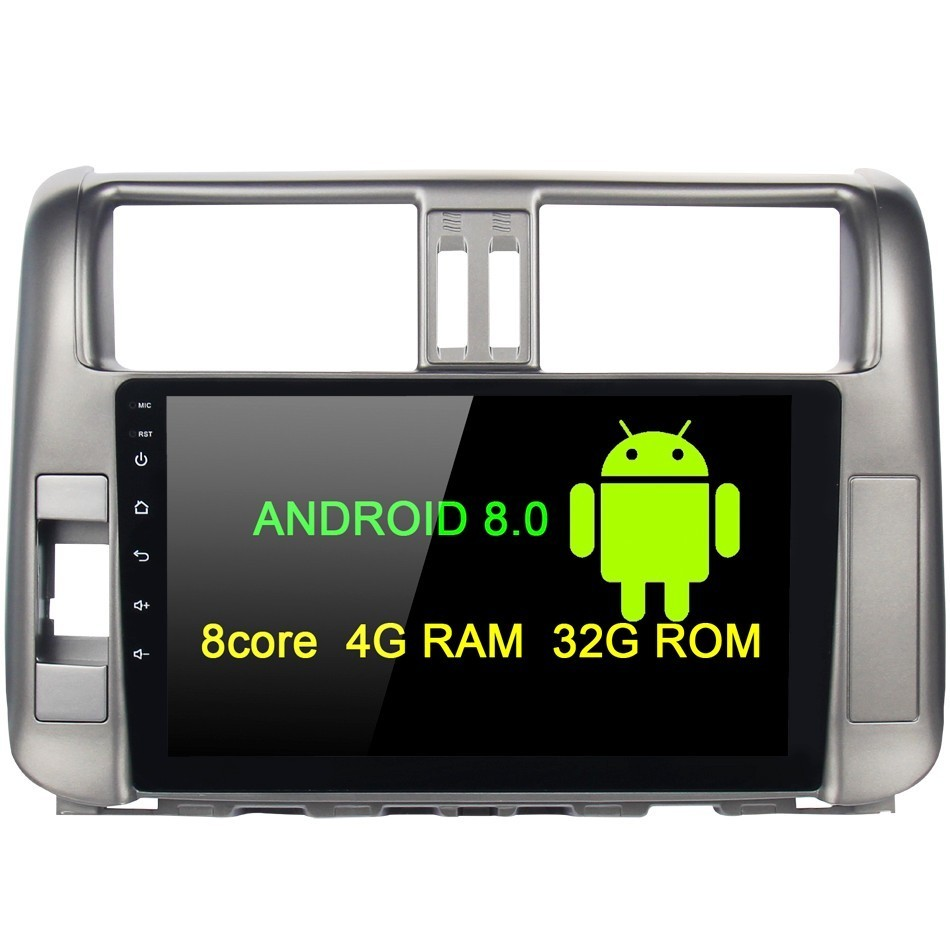 Android 8 0 1 din Head Unit For Toyota Prado 150 2010 2011 2012 2013 car