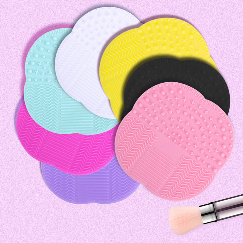 2017 Fashion High Quality Silicone Professional Makeup Brush Cleaner Washing Scrubber Board Cosmetic Cleaning Mat Pad