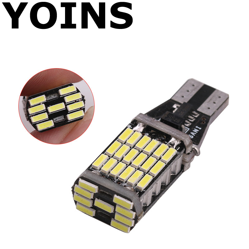 1pcs t15 w16w 45smd 4014 led canbus no error car tail bulb. Black Bedroom Furniture Sets. Home Design Ideas