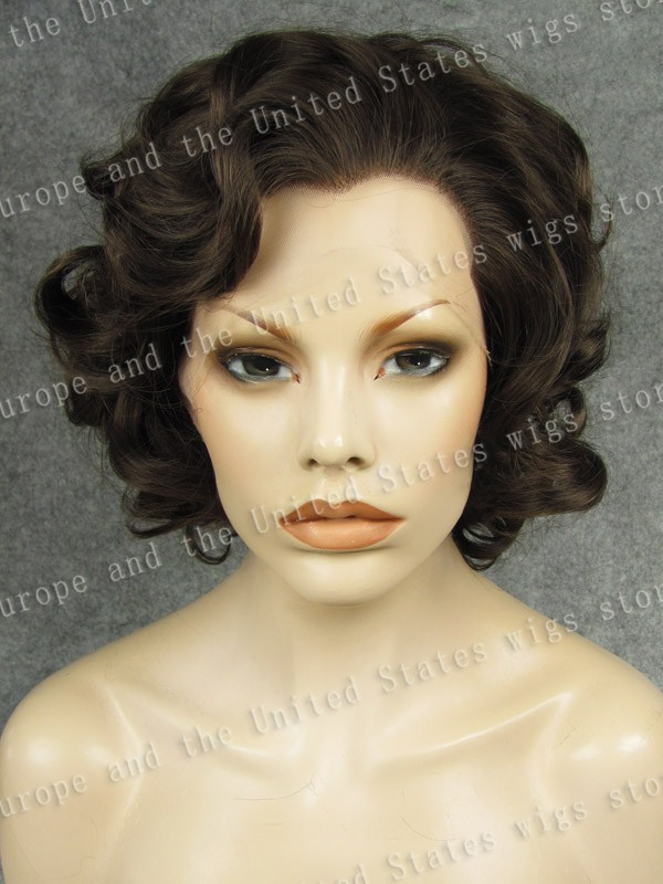 Marilyn Monroe Wig Short Bob Black Grey Silver Brown Synthetic Heat Resistant Fibre Curly Lace Front Fashion  Cosplay kylie jenner synthetic lace front wig short bob ombre purple dark root with heat resistant fiber hair for women free shipping
