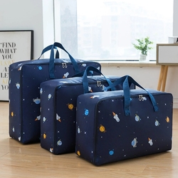Portable Storage Bag Cartoon Oxford Cloth Quilt Storage Bag Large-Capacity Travel Package Toy Organizing Bag Waterproof Package