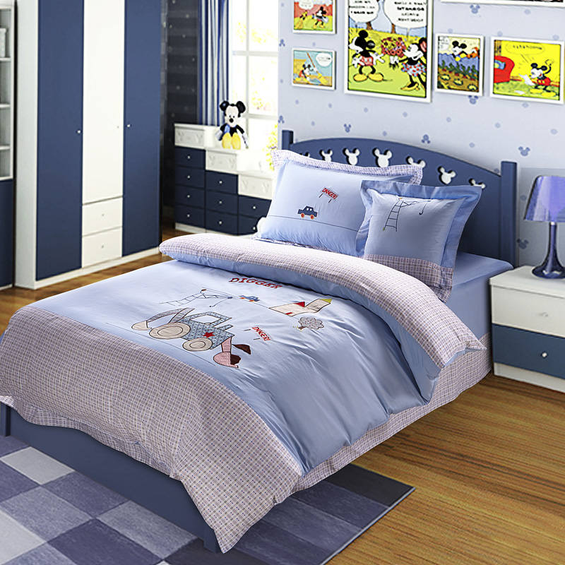 Cartoon Cars Printed Applique Embroidered Bedding Set Twin Full Queen Size Duvet Covers Bedclothes Cotton Woven Boys Blue ColorCartoon Cars Printed Applique Embroidered Bedding Set Twin Full Queen Size Duvet Covers Bedclothes Cotton Woven Boys Blue Color