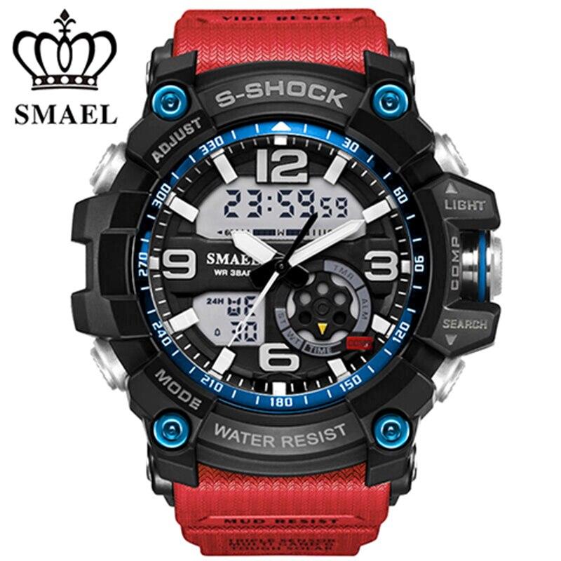 SMAEL Sport Militaire Montres montre Hommes montre À Quartz Numérique Extérieure Étanche LED Montres Casual S Choc Mâle Horloge relogios