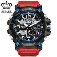 SMAEL Military Sport Watches Montre Men Digital Quartz Watch Outdoor Waterproof LED Watches Casual S Shock