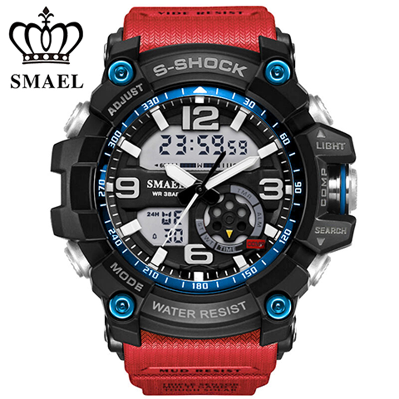 SMAEL Military Sport Watches montre Men Digital Quartz Watch Outdoor Waterproof LED Watches Casual S Shock Male Clock relogios