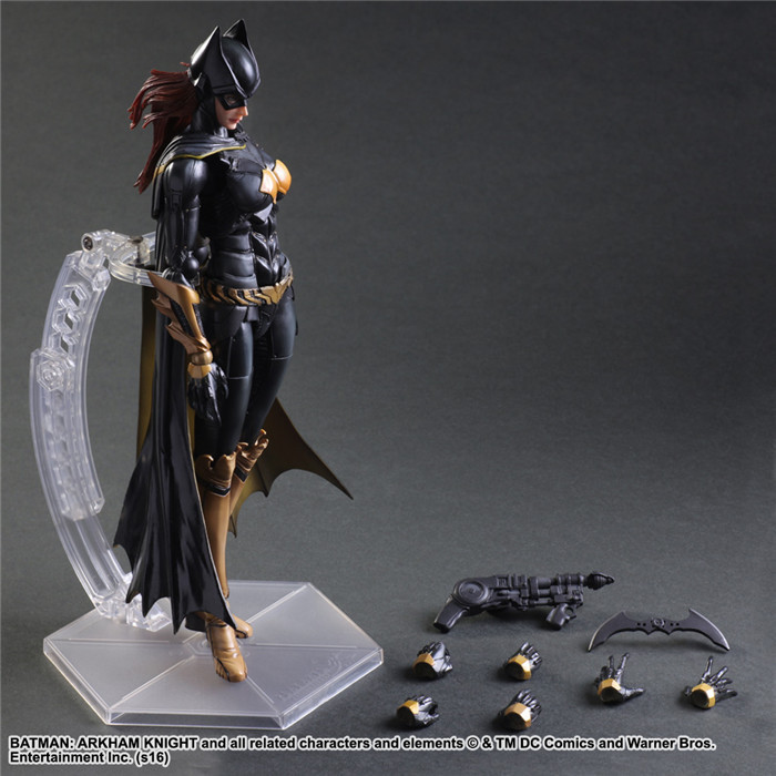 Play Arts Kai Batgirl Action Figures PVC Toys Batman Arkham Knight 260mm Anime Movie Justice League Playarts Kai Model playarts kai batman arkham knight batman blue limited ver superhero pvc action figure collectible model boy s favorite toy 28cm