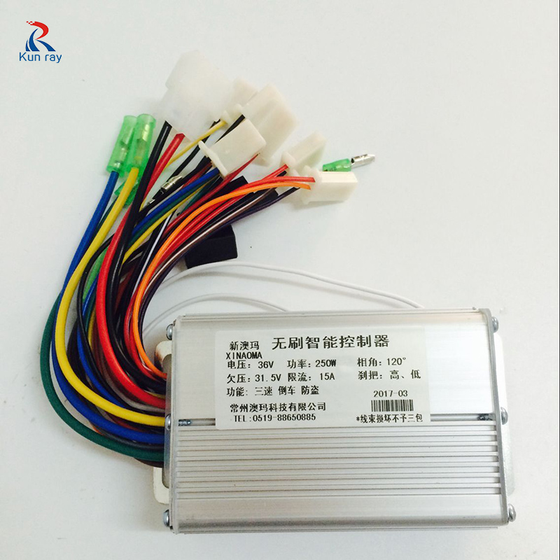 250w 24v 36v Brushless Motor Controller 15a For Electric