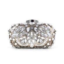 LLJUNDUI Neue Ankunft Shiny Damen Schwere Diamant besetzte Abendtaschen Luxury Glassbeads Stickerei Kleid Kupplungen Handgemachten Schwarzen