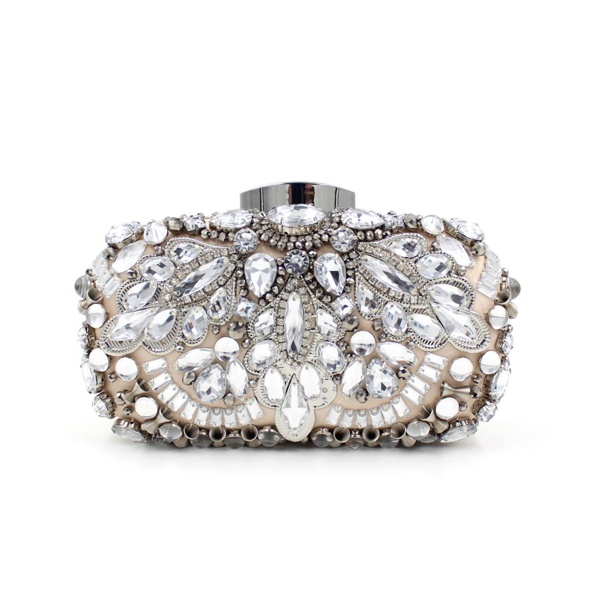 LLJUNDUI Nueva Llegada Shiny Ladies Pesado Diamante-tachonado Vestido Bordado Gl