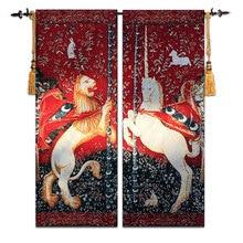 Alta Calidad de Bélgica Tapiz de estilo Europeo clásico Pinturas de arte Medieval Unicornio GT-SFD071
