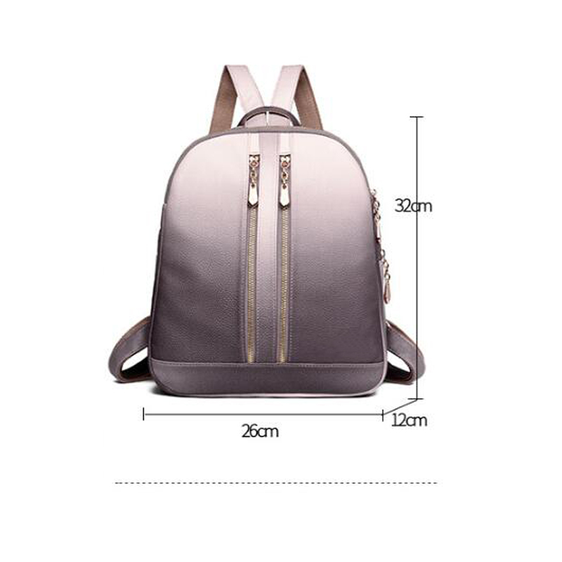 Trend portable backpack out baby care diaper bag 2019 new pregnant women bag Korean version of soft skin Mummy backpack