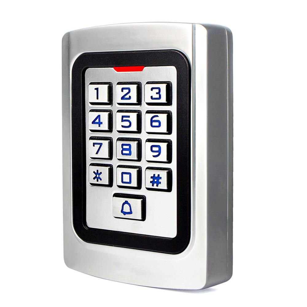 LPSECURITY Weather Proof Standalone 125KHZ RFID Reader & Keypad Pin Code Door Gate Lock Opener Access Control Metal Keypad Case