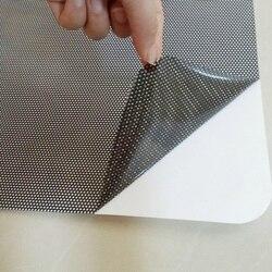 Środek do pielęgnacji karoserii 2 szt. Czarna strona osłony przeciwsłoneczne do samochodu tylne okno osłony przeciwsłoneczne pokrywa blok statyczne przylgnięcie osłona ekranu osłona wnętrza akcesoria