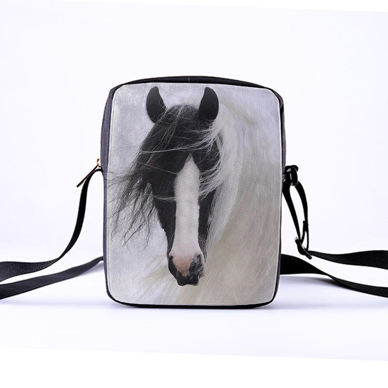 7bdeef9729 CROWDALE DIY customized Women Messenger Bags 3D Animal Shoulder Bag Handbags  Horse pentium Children Crossbody Bag 23x17x5cm -in Crossbody Bags from  Luggage ...