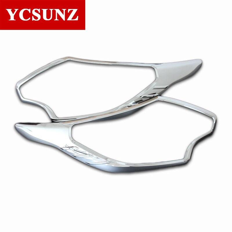 2016 2019ABS Car Chrome Strips For Mitsubishi L200 Triton Accessories Headlamps Cover Trim For Mitsubishi L200