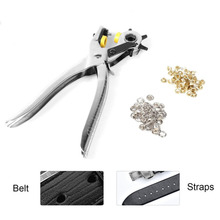 Multifunctional Hole Puncher Handle Punch Eyelet Plier with 5 Different Hole Sizes for Leather Strap Watch Band Leather Card mini manual dotter eyelet puncher hand press grommet puncher plier punching machine tool for eyelet 6mm 10mm 10 5mm size