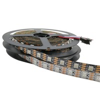 1M/5M WS2813 LED StripDual signal wires Addressable Smart led pixel strip 30/60/144 leds/m DC 5VIP20/IP65/IP67 Black White PCB