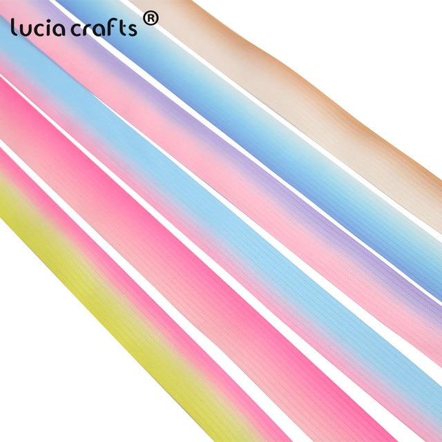 5 yardas/6 yardas 25mm tela de cinta satinada Color degradado DIY Headwear regalo envoltura decoraciones de fiesta de boda Q0223