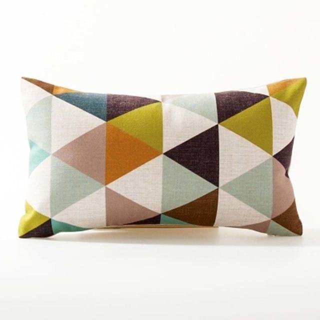 Nordic Geometric Decorative Pillowcase Size: 45CM WT0042 Color: 23
