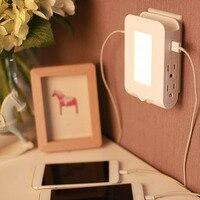 Multifunctional Furnishing LED Light Bedside Automatic Energy Saving Nightlight Light Sensor Control Bedroom Decoration Lamp