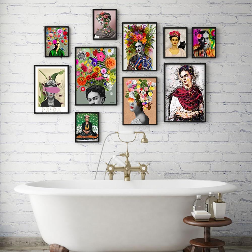 Cuadros de estilo nórdico decoración arte de la pared de lona carteles y las huellas de la imagen de la pintura para la sala de auto-retrato