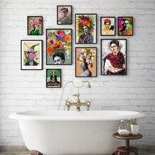 Куадрос стиль Nordic декорацией Wall Art Холст Плакаты и печатает холст картина для Гостиная Self Portrait