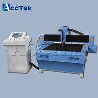 AccTek 1000*1000mm kleine cnc metall schneiden maschine/verwendet plasma schneiden tische für verkauf|Holzfräsemaschinen|Werkzeug -