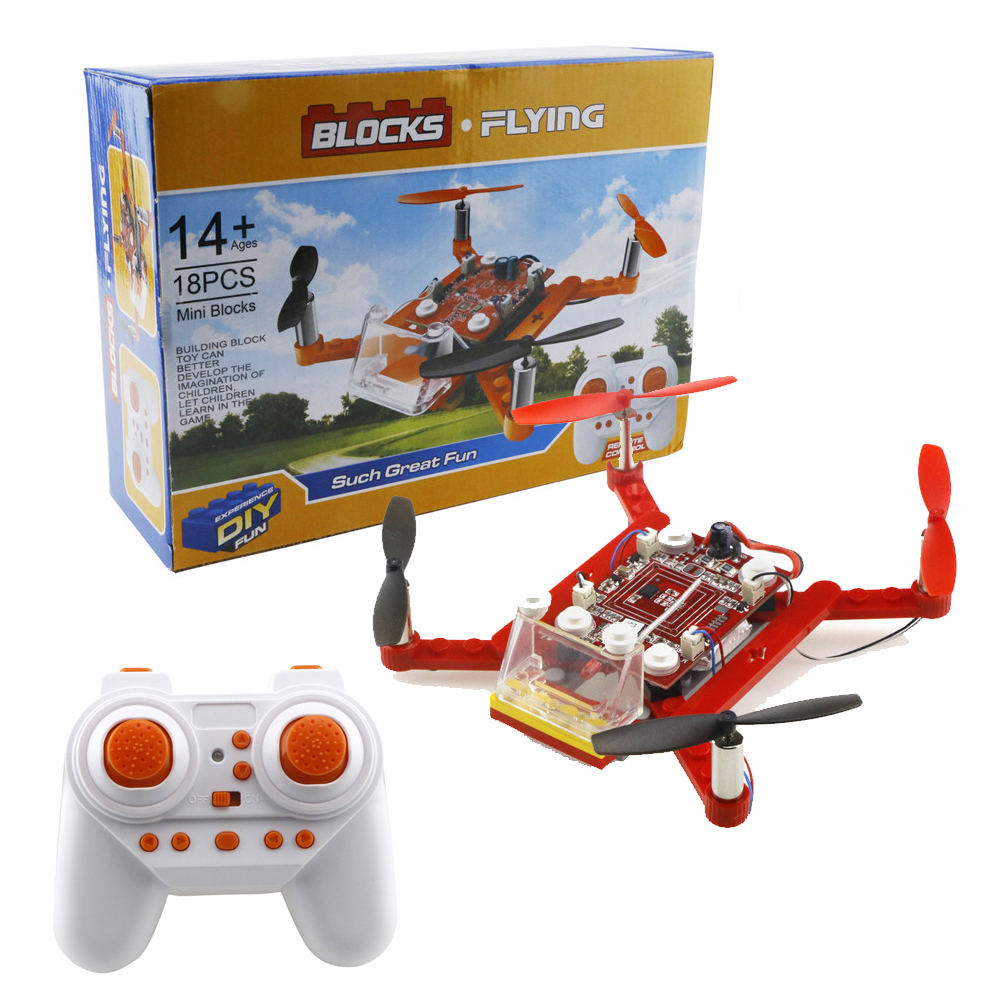 EBOYU TM 2 4G 4CH 6Axis DIY RC Quadcopter Building Blocks Flying Drone RC Quadcopter Helicopter