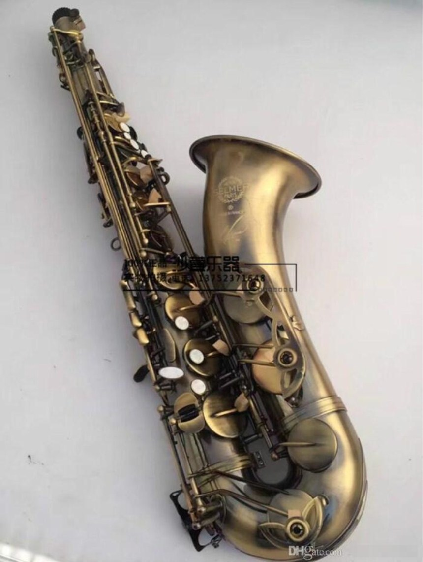 High Quality Musical Instrument Selmer R54 Tenor Saxophone Brass Antique Copper Surface Bb Tone Sax With Case Mouthpiece Free купить недорого в Москве