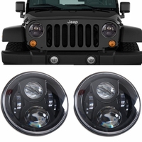 DOT Daymaker Style LED Projection Headlight Kit For Jeep Applications 7 Led Wrangler Led Headlights