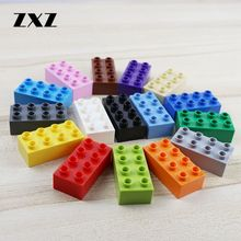 30pcs/lot Big Buidling Blocks Bricks 2 X 4 Educational Toys for Children Kids Gifts Duploed 2 x 4 Blocks Big Particels