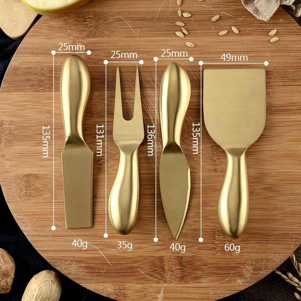 Đầm Thiết Kế Đầu 4 Cái/bộ Phô Mai Cắt Dao Cắt Lát Bộ Nhà Bếp Phô Mai Cắt Sáng Tạo Dụng Cụ Nhà Bếp Đầu Bếp Thìa Đũa Chảo Bánh