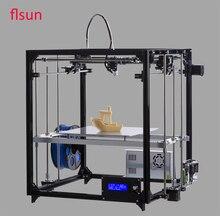 Новое обновление металлический каркас flsun i3 3D принтер 3d-PrinterLarge Размер 260*260*350 мм с подогревом кровать с двумя рулоны нить SD Card