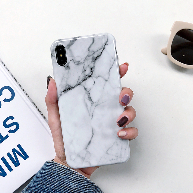 Marble Design Cases For iPhone Soft TPU