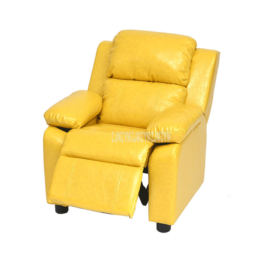 New Lying/Sitting Children Sofa Ergonomic Baby Kids Lazy Sofa Chair With Footrest Clothing/PU Leather Soft Sponge Filler