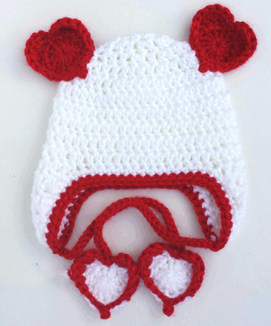 a0a52848e91 Crochet Valentines Day Heart Hat